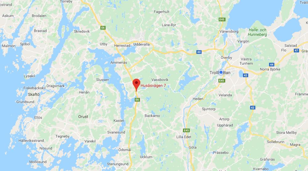 Klicka här för en vägbeskrivning till Husåsvägen 7 i Ljungskile